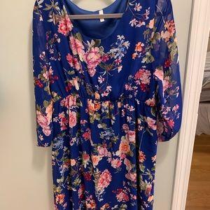 Pink Blush 3/4 sleeve dress